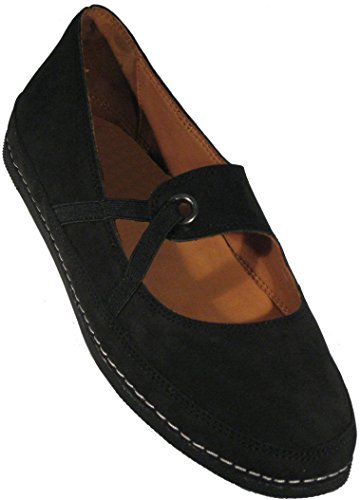 Love Mujeres Feet Denisse Luxury Nubuck Flat Black