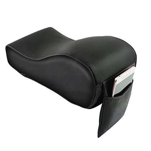 Memory Foam Car Armrest Cushions Armrest Center Consoles Head Neck Rest Pillow Pad for Car Motor Auto Vehicle (1pack) (husband pillow) (Black) (Center Arm Rest compare prices)