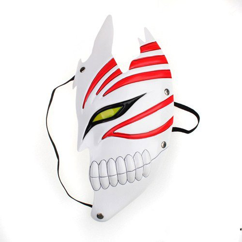 Bleach Hollow Mask - New Stylish Bleach Cosplay Costume Half Face Hollow Mask