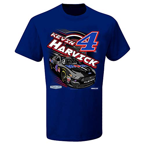 SMI Properties Youth Kevin Harvick 2019 Power Mobil 1 NASCAR T-Shirt (Youth Medium) Blue