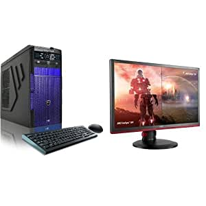 "CybertronPC Hellion (Blue) TGM1213J Gaming PC  and AOC G2460PF 24"" Free Sync Gaming Monitor Bundle"