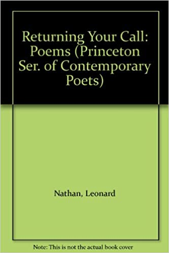Book Returning Your Call: Poems by Leonard Nathan: [1975]- (Princeton Series of Contemporary Poets)