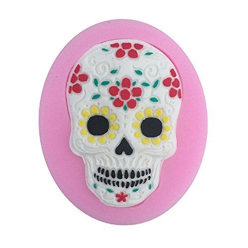 Witkey Halloween cráneo Forma Silicona Molde Fondant Pastel Formas Decoración Moldes chocolate Pastry Candy molde cocina Hornear Galletas Molde Jabón Decoración Moldes