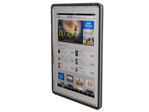 Apple iPad 2 iPad 3 iPad 4 Hard Candy Cases Bezel Silver Dual Layer Screen Protector Polycarbonate Light Weight Shock Absorbing Protective Cover Case