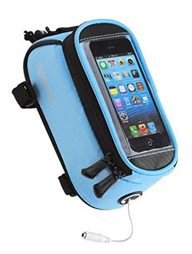 Roswheel/® Waterproof 4.2 4.8 5.5 Bike Bicycle Cycling Frame Pannier Front Tube Bag Saddle Bag Touchscreen Cell Phone Case Bag Phone Holder GPS Bag with Headphone Jack Reflective Strips for Safe Night Riding Suitable for iPhone Samsung HTC Nokia and