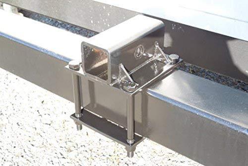 """RV Bumper Hitch Adapter 2/"""" Receiver Trailer Square Bumper Mount Bike Rack Cargo"""