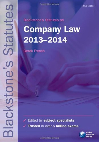 Blackstone's Statutes on Company Law 2013-2014