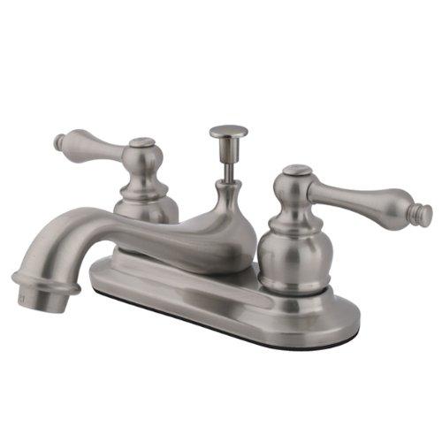 - Kingston Brass KB608AL Restoration 4-Inch Centerset Lavatory Faucet, Brushed Nickel