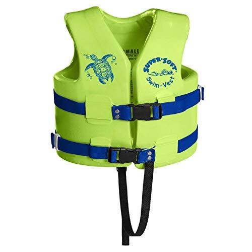 TRC Recreation Super Soft Childs X Small Swim Vest, Kool Lime Green