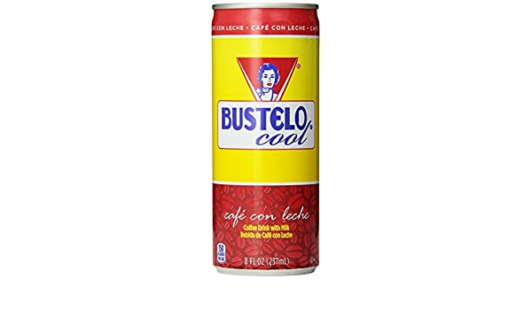 Bustelo Cool Cafe Con Leche Coffee Beverage, 8 Ounce (Pack of 12): Amazon.es: Alimentación y bebidas