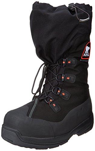 Sorel Men's Intrepid Explorer Extreme Snow Boot,Black/Red Quartz,13 M US