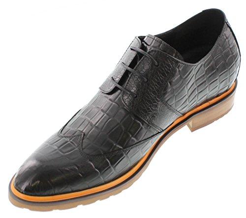 G-CALTO 329080-6,60 (2,6)-Tappetto cm, altezza aumentare ascensore per scarpe, colore nero, con ala-Vestito e scarpe
