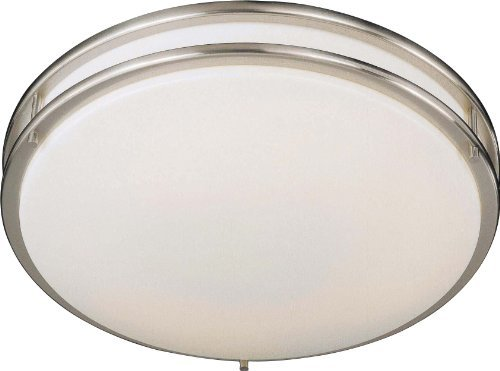 Minka Lavery 861-84-PL, 2 Light Flush Mount, Brushed Nickel by Minka Lavery