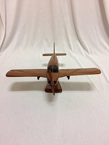 Piper Cherokee Replica Airplane Model Hand Crafted with Real Mahogany (Mahogany Model Aircraft)