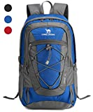 CAMEL CROWN 30L Lightweight Travel Backpack Outdoor Mountaineering Hiking Daypack with Durable & Waterproof (blue)