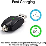 2PCS Smart USB Thread Charger Adapter,LED Indicator Light&Over-Charge Protection,Use for Pen Battery