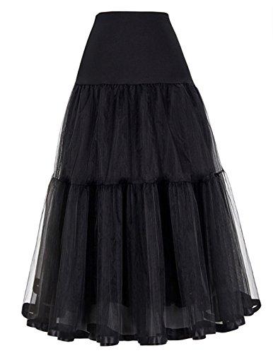- GRACE KARIN Net Bridal Crinoline Petticoat for Wedding Dress (S,Black)