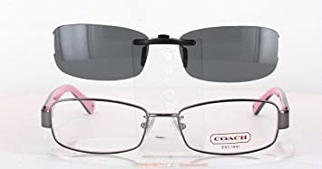 c5aaf1e3b63c8 Image Unavailable. Image not available for. Color  COACH HC5001-52X16 POLARIZED  CLIP-ON SUNGLASSES (Frame ...