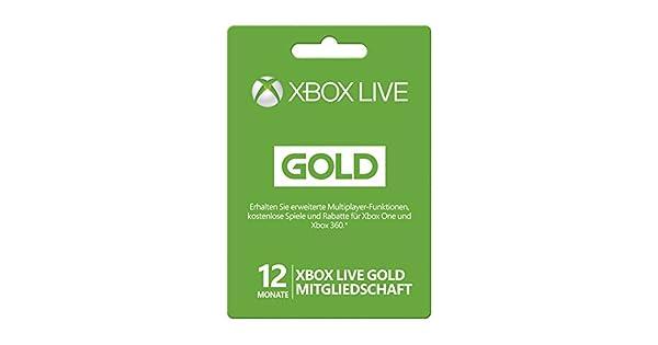 Amazon.com: Xbox live Gold tarjeta de suscripción ...