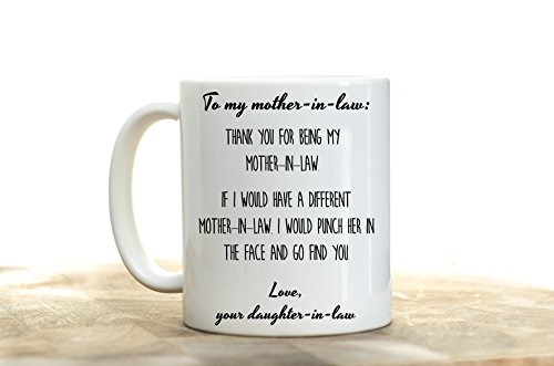 Mother In Law Gift From Bride Thank You For Not Putting My Husband Up Adoption Coffee Mug Best Ever Birthday Wedding Day Christmas Present Fro