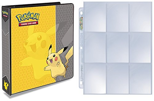 (Ultra Pro Pokemon Pikachu 3-Ring Binder with 25 Platinum 9-Pocket Pages)
