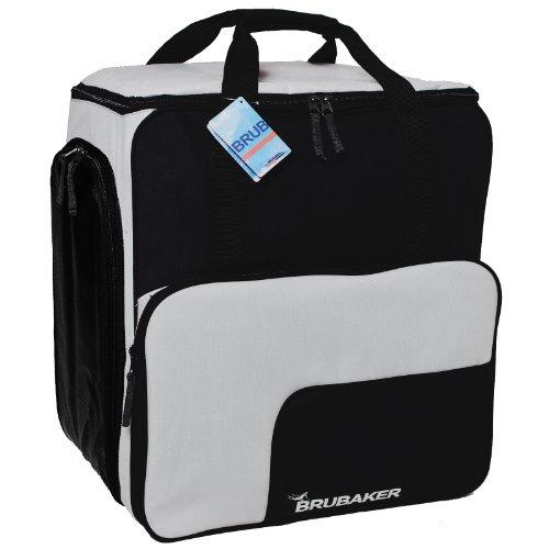 Skischuhtasche Helmtasche / Skischuhrucksack SUPER FUNCTION Comfort Stiefeltasche mit Rucksackfunktion BRUBAKER Wintersporttasche Schwarz / Silber