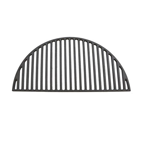 Onlyfire Barbecue Semicircular Cast Iron Cooking Grate Fits for Large Big Green Egg,Kamado Joe Classic,Pit BossK22,Louisiana K22,Large Grill Dome,and Other Kamado Grill ()