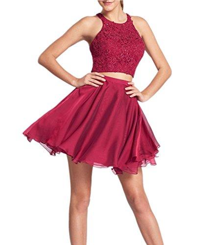 Promworld Damen Cocktail Kleid Violett H2tmv