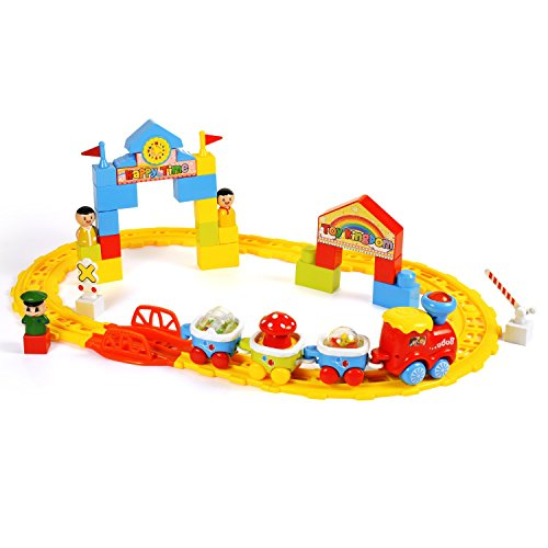 (BAOLI Classic Toy Train Starter Set - Tracks & Accessories, Train Cars for Toddlers & Older Kids Train Sets)