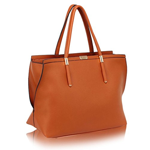 School Large LARGE Holiday Handbags BROWN College HANDBAG Shoulder SIZE LeahWard For Girl For Bags Women's Friend Work Women Mum Y1wWp5q