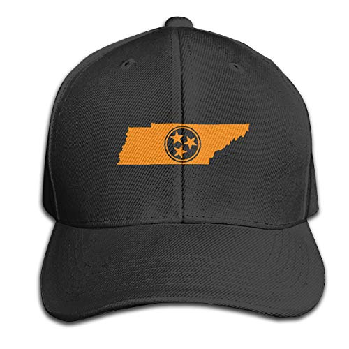 - Home Tennessee Tri Star3 Ordinary Hat, Adjustable Arc Sunshade Hat Black