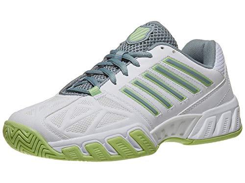 K-Swiss Bigshot Light 3 Womens Tennis Shoe (Whit/Paradise Green/Abyss, 7.5)