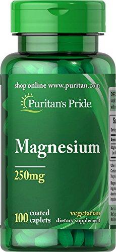 Puritan's Pride Magnesium 250 mg-100 - Caplets 250 Mg Magnesium