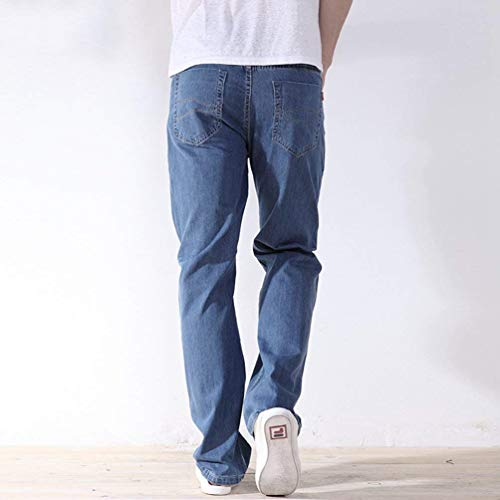 Largos Ssige Jeans T Jeans Baggy Hellblau Loose Largos Jeans Straight Fit Ropa Casuales Vaqueros Trouser Jeans Pantalones Cowboy dvqEW