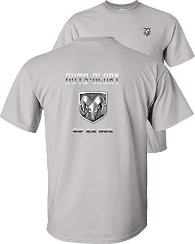 Fair Game Dodge Guts Glory Ram Logo T-Shirt-Ice Grey-XL (2011 Dodge Ram Laramie Longhorn For Sale)