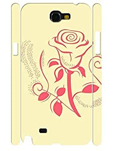 3D Print Hipster Rose Handmade Cell Phone Protective Cover Case for Samsung Galaxy Note 2 N7100