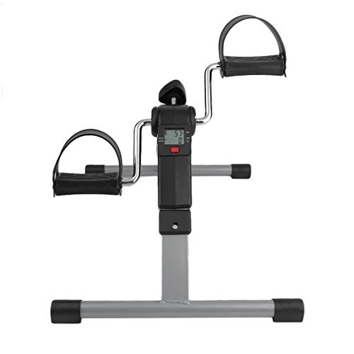 Graspwind Pedal Exerciser Mini Floor Foot Pedal Digital Foldable Exerciser Leg Machine - LED Under Desk Exerciser Folding Exercise Bike-Indoor Exercise Bike by Graspwind