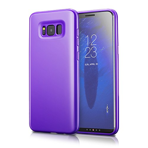 Technext020 Ultra Slim Fit Silicone Phone Case Compatible for Galaxy S8, Purple