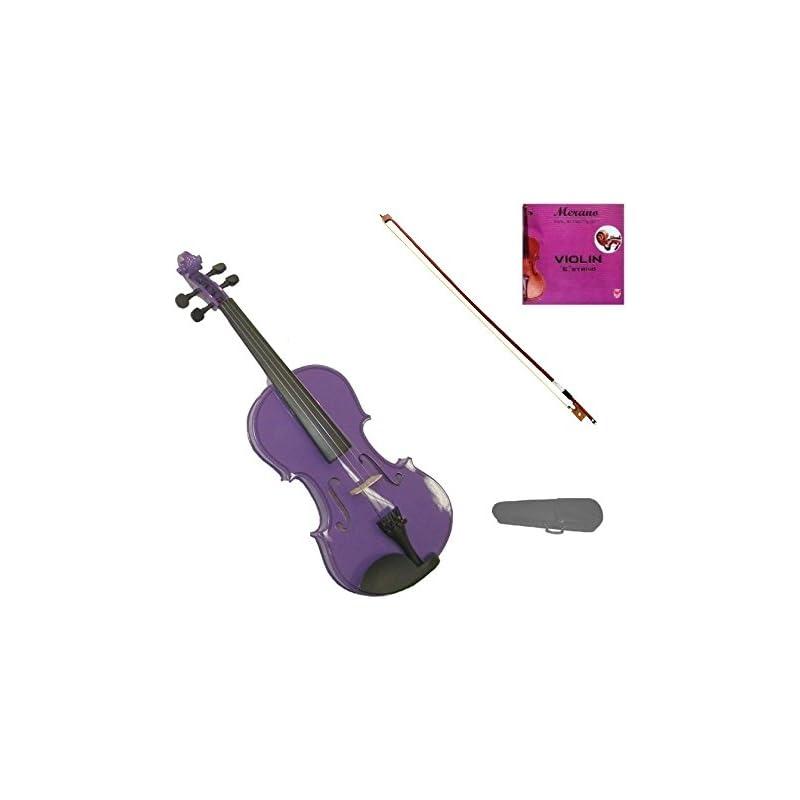 GRACE 1/8 Size Purple Acoustic Violin wi