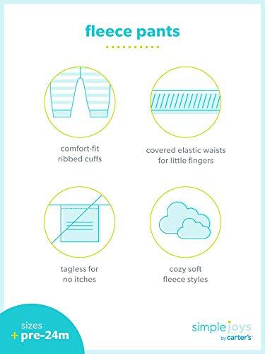 Simple Joys By Carters Paquete De 4 Pantalones De Forro Polar Para Ninos