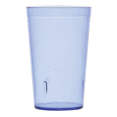G.E.T. 9.5 oz Stackable Blue SAN Plastic Pebbled Tumbler