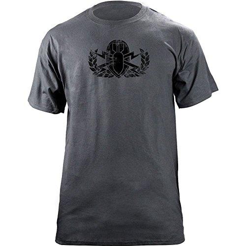 Vintage Army EOD Badge Subdued Veteran T-Shirt (L, Grey)