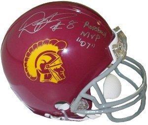 Dwayne Jarrett Signed Autograph USC Trojans Replica Mini Helmet Rose Bowl MVP 07 - Autographed College Helmets (Rose Usc Bowl Autographed)