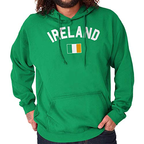 Brisco Brands Ireland Country Flag Soccer Fan Irish Pride Hoodie