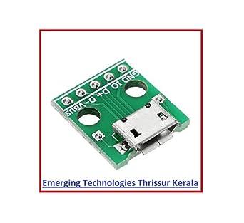2PCS Female MICRO USB to DIP 5-Pin Pinboard 2.54mm micro USB type