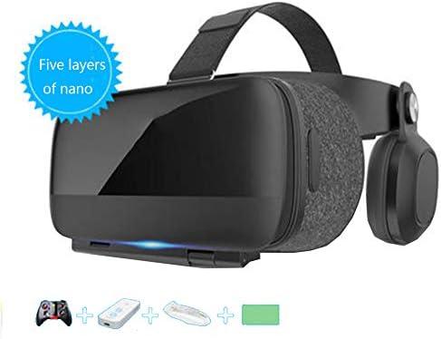 バーチャルリアリティのメガネ 3Dメガネ, ヘッドマウント サポート4.7から6.0インチのiPhone / Android携帯電話、 720度パノラマモード ゲーム/映画に最適,Gray,Package3