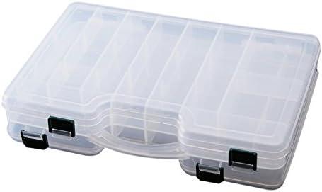SODIAL(R)29 * 19 * 6cm caja de almacenamiento de plastico de pesca/caja de senuelos transparente doble cara visible manija de la mano: Amazon.es: Deportes y aire libre