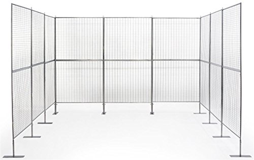 Displays2go Gridwall Booth Display, Iron Construction - Silver Finish (AD9PNL) ()