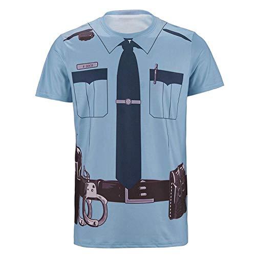 Men's T-Shirts Funny Cosplay Halloween Tee Adult Man