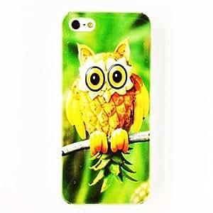 Pi?a Owl Patr¨®n TPU caso suave para el iPhone 5/5S , Multicolor